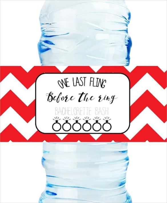 Water Bottle Label Template \u2013 29+ Free PSD, EPS, AI, Illustrator