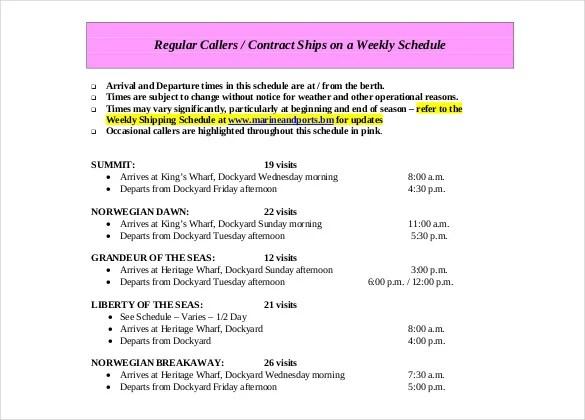 12+ Cruise Itinerary Templates \u2013 DOC, PDF Free  Premium Templates