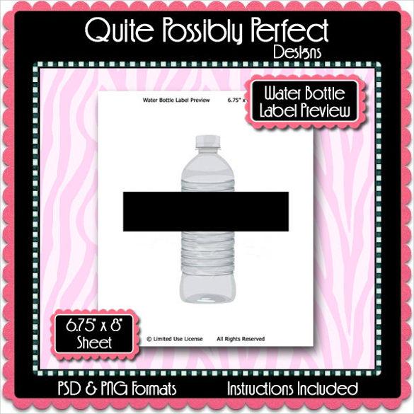 Water Bottle Label Template \u2013 29+ Free PSD, EPS, AI, Illustrator