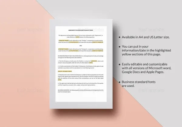 16+ Payment Agreement Templates - Free Sample, Example, Format - payment agreement template