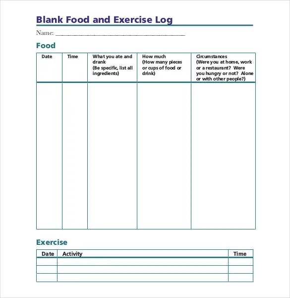 Running Log Template  LondaBritishcollegeCo