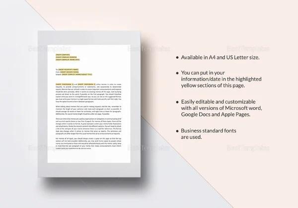 pages memo template - Baskanidai