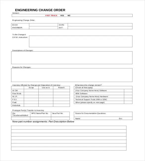 24+ Change Order Templates - PDF, DOC Free  Premium Templates