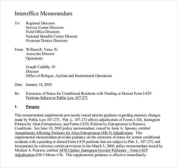 inter office memo – Interoffice Memos