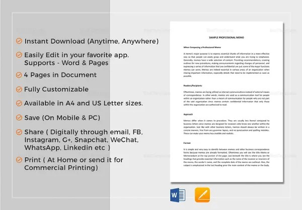 Interoffice Memo Templates - 28+ Free Sample, Example, Format Free