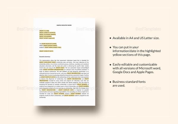15+ Professional Memo Templates \u2013 Free Sample, Example, Format
