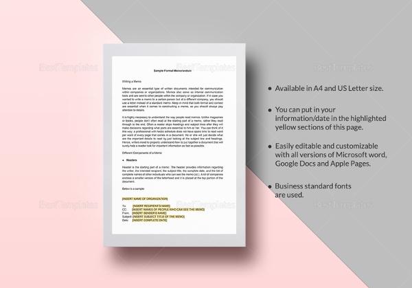 Amazing Sample Formal Memorandum Images - Resume Samples \ Writing - formal memo