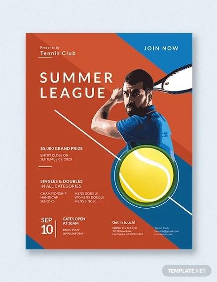 17+ Tennis Flyers - PSD, AI, EPS Vector, Word Free  Premium Templates