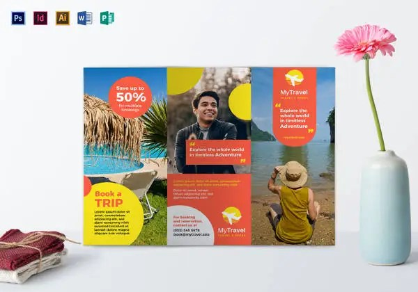 12+ Free Download Travel Brochure Templates in Microsoft Word Free - Free Pamphlet Templates Microsoft Word