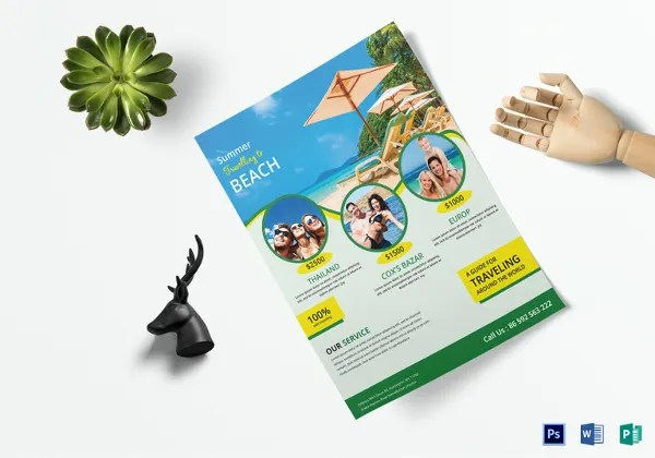 12+ Free Download Travel Brochure Templates in Microsoft Word Free - Vacation Brochure Template