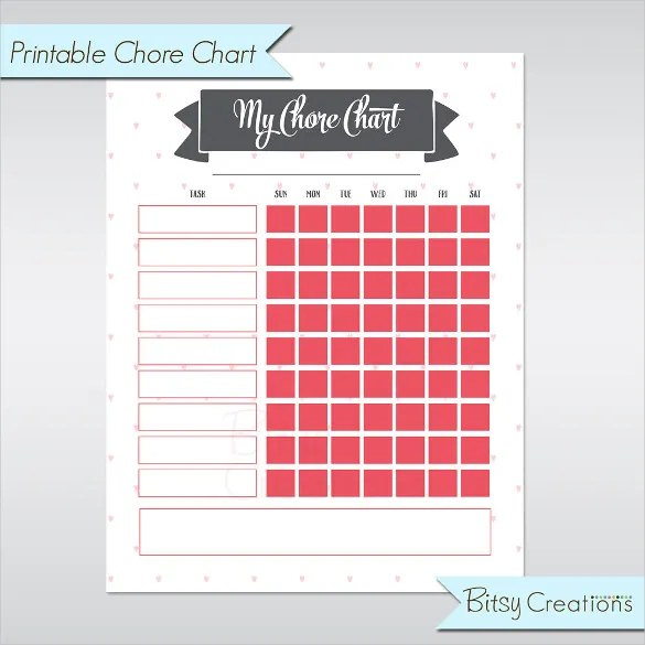 Blank Chart Template - 17+ Free PSD, Vector EPS, Word, PDF Format