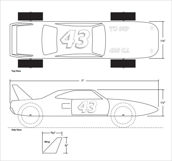 21+ Cool Pinewood Derby Templates u2013 Free Sample, Example Format - pinewood derby template