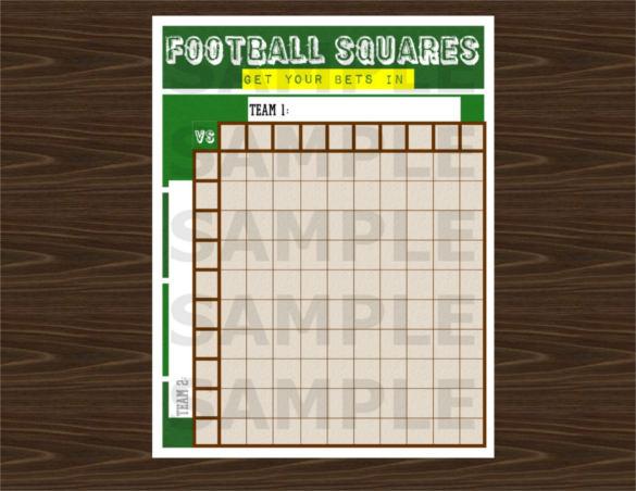 Football Pool Template \u2013 21+ Free Word, Excel, PDF Documents