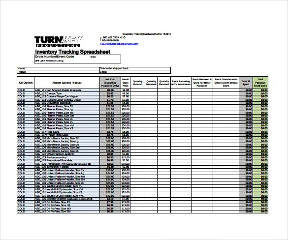 15+ Sample Inventory Spreadsheet Templates- Free Sample, Example - inventory spreadsheet samples