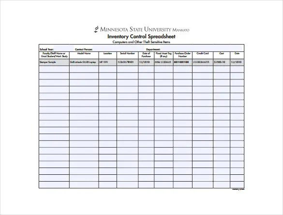 14+ Sample Inventory Spreadsheet Templates - PDF, DOC Free