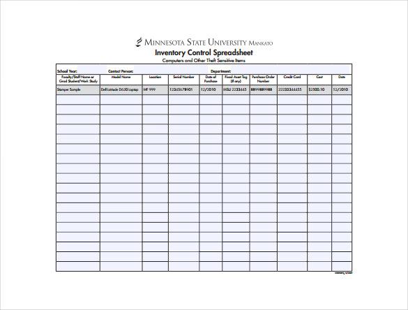 14+ Sample Inventory Spreadsheet Templates - PDF, DOC Free