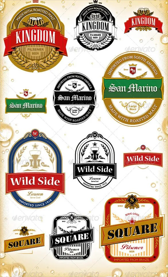 Beer Label Template - 27+ Free EPS, PSD, AI, Illustrator Format - abel templates psd