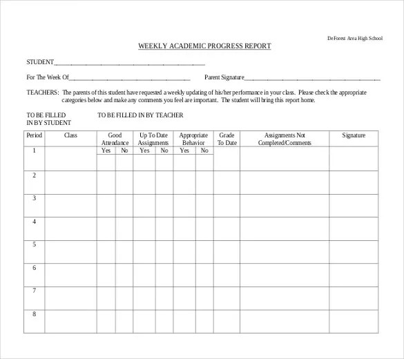 22+ Progress Report Template - Free Word, Google Docs, Apple Pages