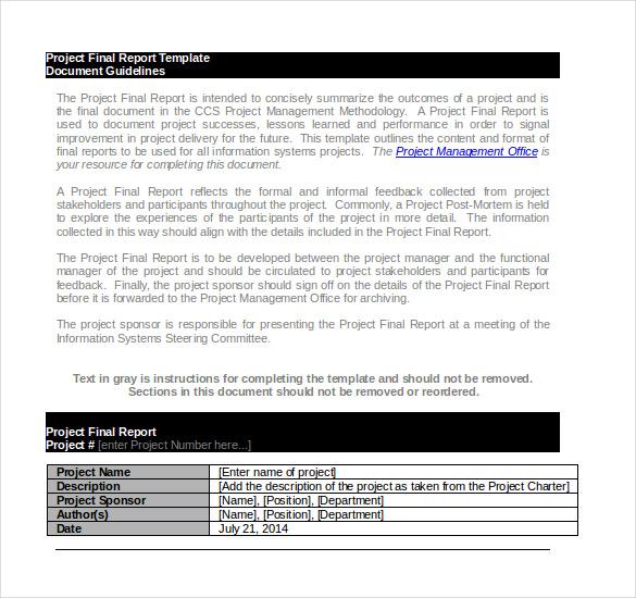 Project Report Templates \u2013 18+ Free Word, PDF Documents Download - project report template word
