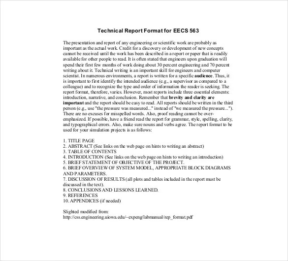 sample technical report pdf - Trisamoorddiner