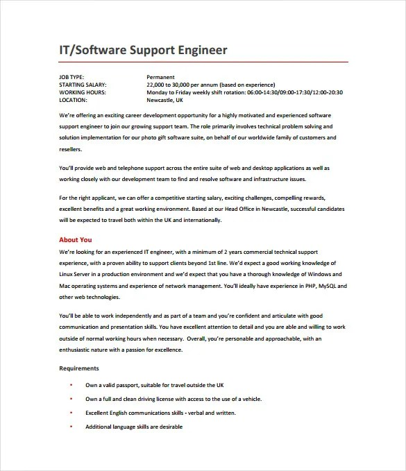 support 640 230 representation 14 software engineer job description templates free sample