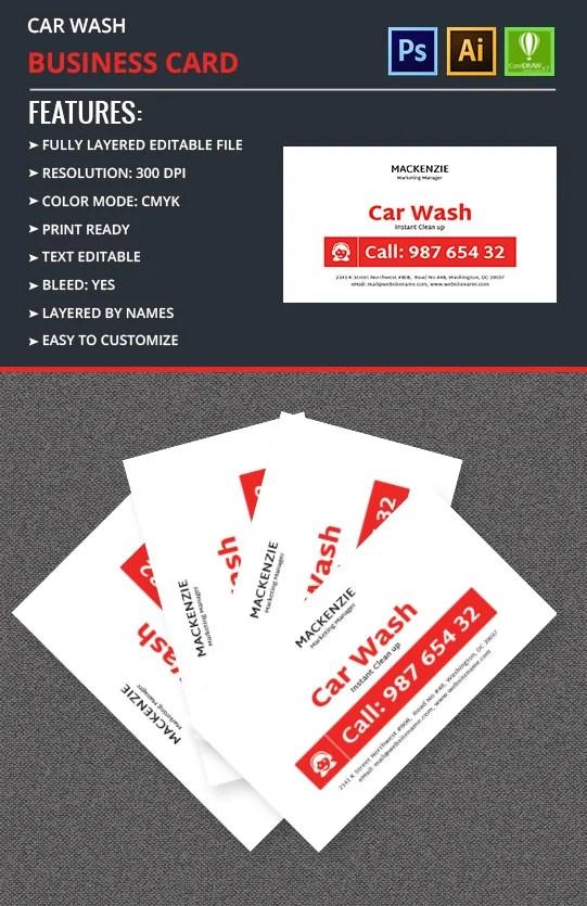 Car Wash Business Card Template Free  Premium Templates