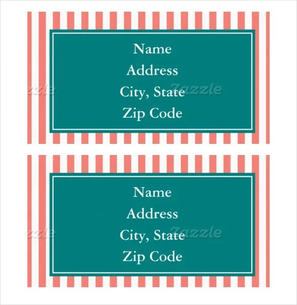 27+ Address Label Templates \u2013 Free Sample, Example Format Download - address label format