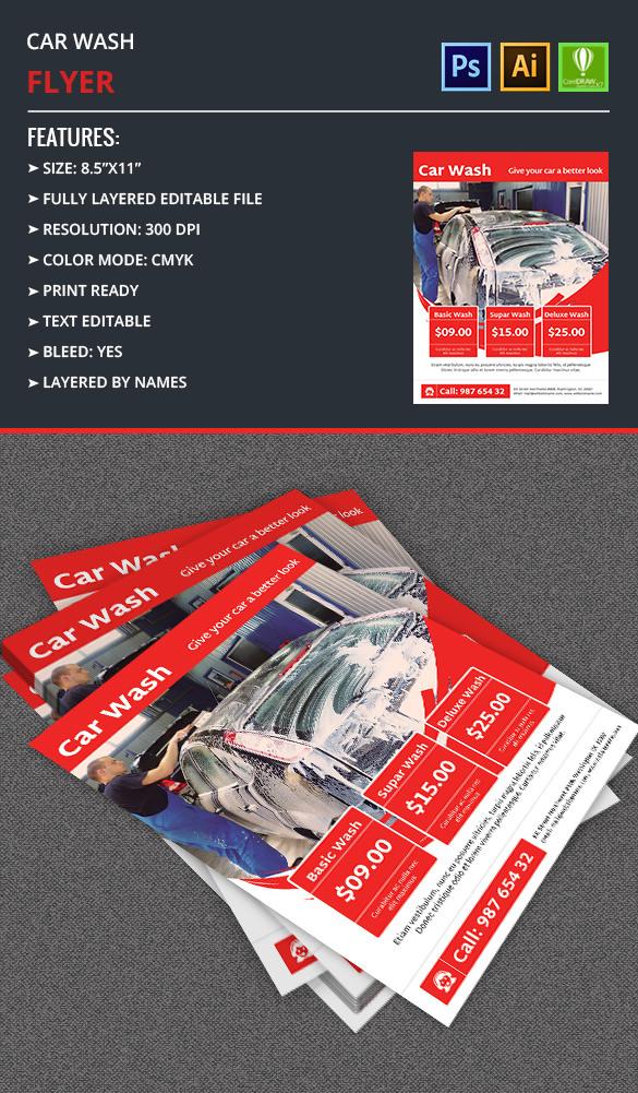 Car Wash Flyer Template Free  Premium Templates - car wash flyer template