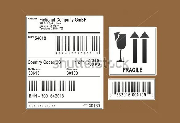 20+ Shipping Label Templates u2013 Free Sample, Example Format - ingredient label template