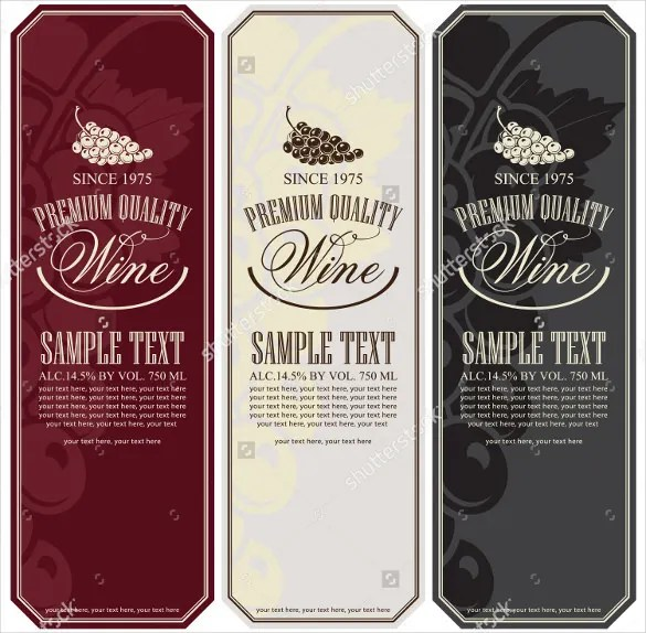 Free Wine Label Templates