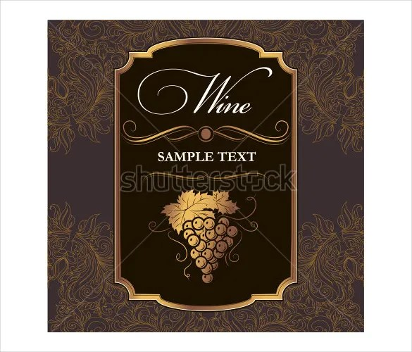 34+ Wine Label Templates \u2013 Free Sample, Example Format Download
