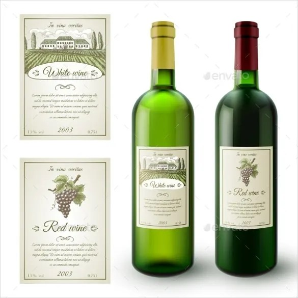 22+ Wine Label Templates u2013 Free Sample, Example Format Download - free wine bottle label templates