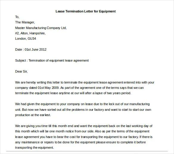 tenant agreement letters