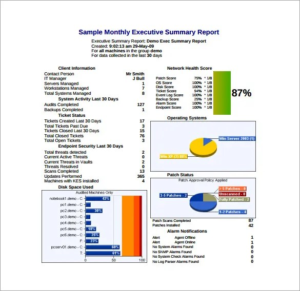 executive summary report template free - Goalgoodwinmetals - executive summary template word
