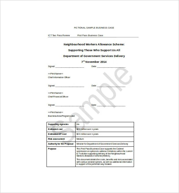 12+ Business Case Templates \u2013 Free Sample, Example, Format Download
