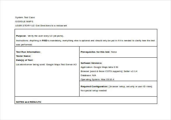 10+ Test Case Templates \u2013 Free Sample, Example, Format Download - test case template