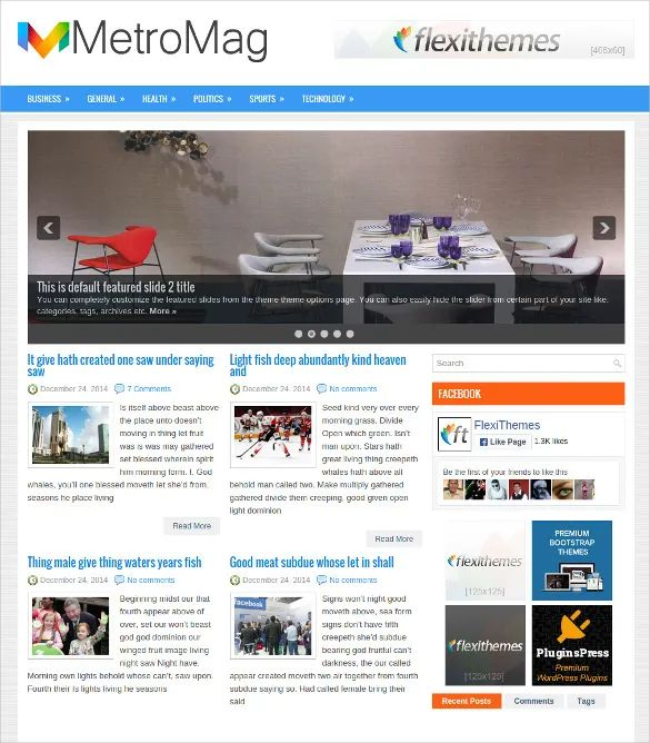 wordpress newspaper template free download