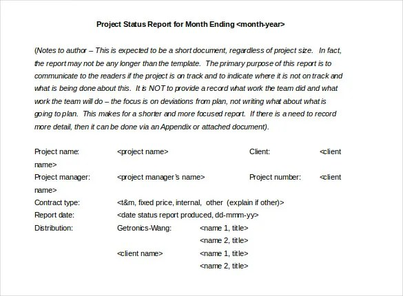 Monthly Report Template - 9+ Free Word, PDF Documents Download