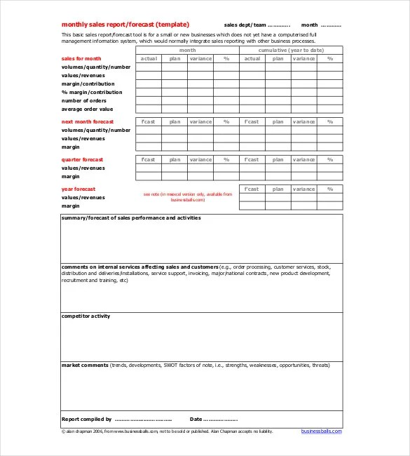 Monthly Report Template - 9+ Free Word, PDF Documents Download - monthly report template word