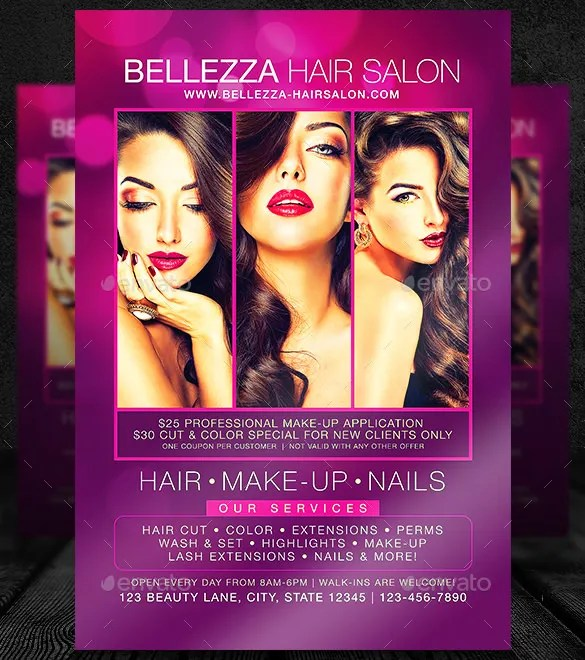 Pin by Kelly Lowe on Iridis Flyer Pinterest - hair salon flyer template