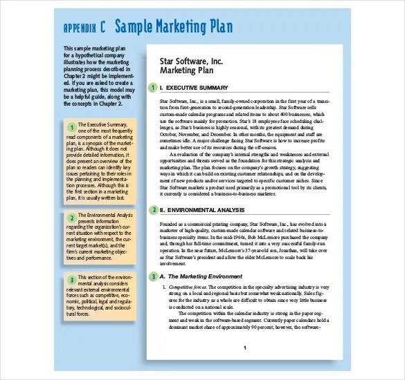 Marketing Strategy Templates u2013 15+ Sample, Example, Format - components marketing plan
