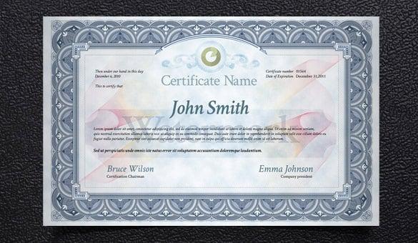 83+ PSD Certificate Templates Free  Premium Templates