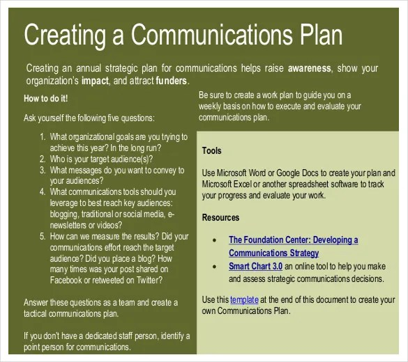 11+ Communication Strategy Templates \u2013 Free Sample, Example, Format