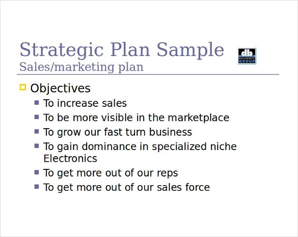 sales strategy example template - Boatjeremyeaton - sample sales plan