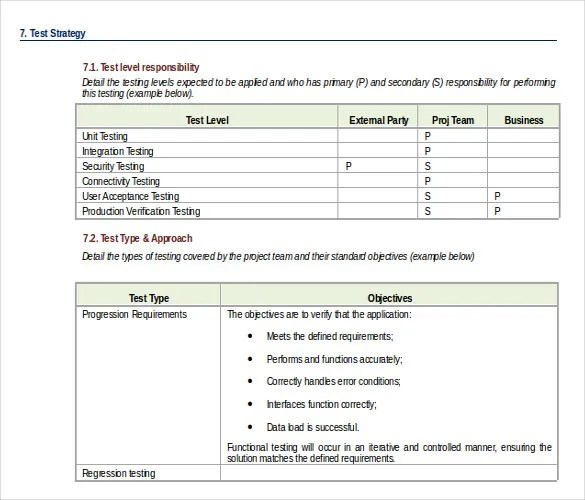 13+ Test Strategy Templates \u2013 Free Sample, Example, Format Download - sample test plan