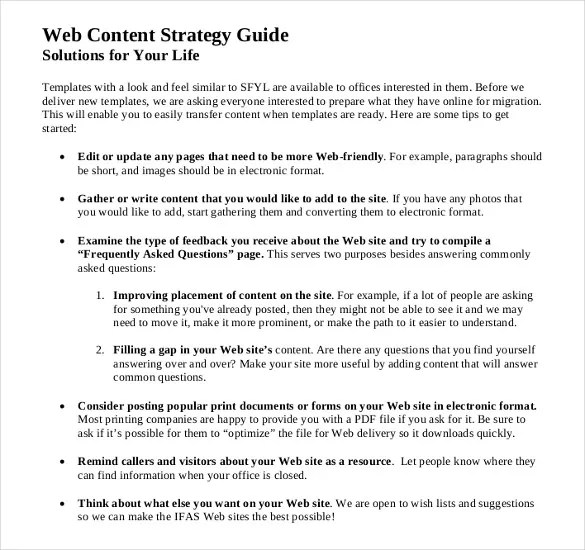 14+ Content Strategy Templates - PDF, Word, Excel Free  Premium