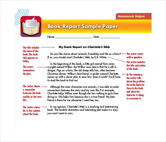 Book Report Template - 13+ Free Word, PDF Documents Download Free - book report template free