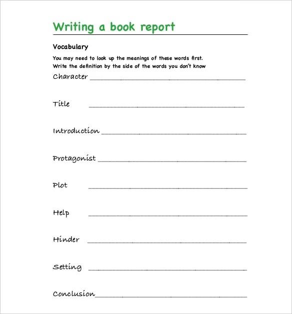 11+ Book Report Templates - PDF, DOC Free  Premium Templates