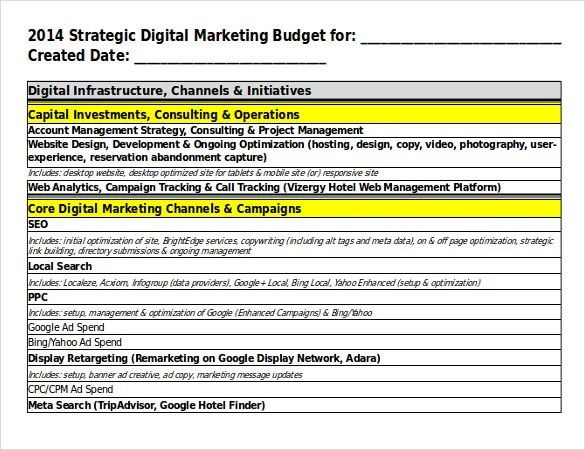17+ Digital Marketing Strategy Templates \u2013 Free Sample, Example - marketing campaign template word