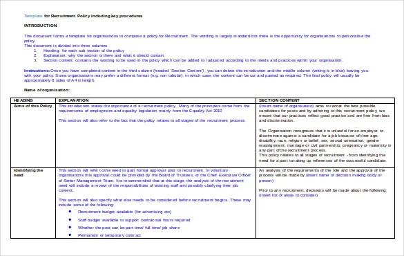 15+ Recruitment Strategy Templates \u2013 Free Sample, Example, Format - recruitment strategies template